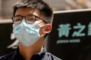 aktivist: hongkong: peking-kritiker joshua wong festgenommen