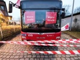 EIL: Verdi ruft zu bundesweiten Warnstreiks im Öffentlichen Nahverkehr auf