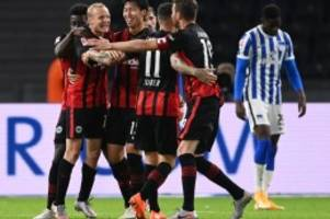 Fußball: Frankfurt schockt Fan-Rückkehrer: 3:1-Sieg bei Hertha BSC
