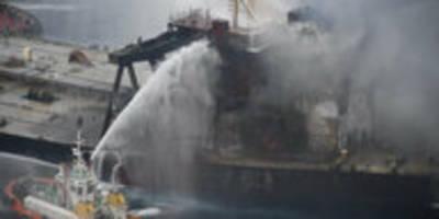 nach brand auf Öltanker vor sri lanka: ein 1,6-millionen-angebot
