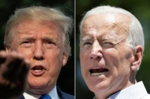 US-Wahl: Donald Trump gegen Joe Biden: So verfolgen Sie die TV-Duelle