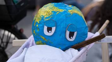 Hunderte Demonstranten gehen für Klimaschutz auf die Straße