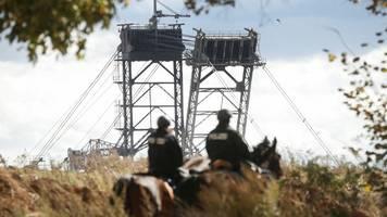 aktionen am tagebau garzweiler haben begonnen