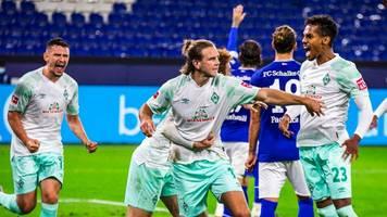 Bundesliga: Werder siegt deutlich auf Schalke – Wagner im 18. Spiel ohne Sieg