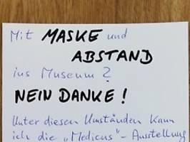 Maske und Abstand? Nein Danke!: Brief von Corona-Leugner kommt ins Museum