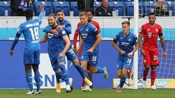 Fußball-Bundesliga: Erste Niederlage des Jahres: Hoffenheim setzt Siegesserie des FC Bayern ein deftiges Ende