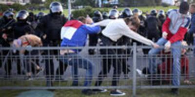 Demonstrationen in Belarus: Konfrontationen auf den Straßen