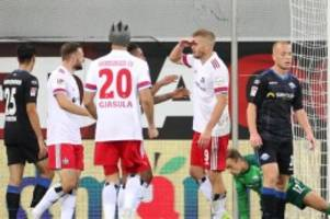 2. Liga: Sieg in Paderborn: HSV dank Terodde an Zweitliga-Spitze