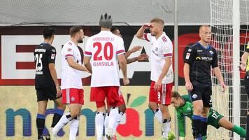2. Liga - Sieg in Paderborn: HSV dank Terodde an Zweitliga-Spitze