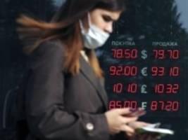 russland: rubel auf allzeittief