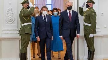 internationale politik: macron trifft weißrussische oppositionsführerin tichanowskaja