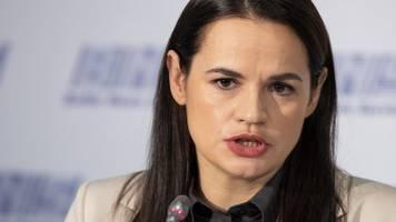 oppositionschefin in belarus: macron unterstützt lukaschenko-gegnerin tichanowskaja