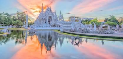 das goldene dreieck schlägt den weißen tempel