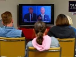 Erste Umfragen zum TV-Duell: Joe Biden vorn - aber viel Ärger über die Debatte