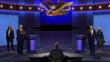 us-wahlkampf: trump und biden liefern sich tv-duell