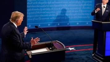US-Präsidentenwahl: Erste TV-Debatte von Donad Trump und Joe Biden begonnen