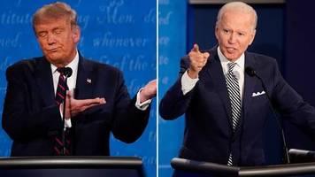 US-Wahlkampf: Der schlechteste Präsident Amerikas: Highlights des hitzigen TV-Duells zwischen Trump und Biden