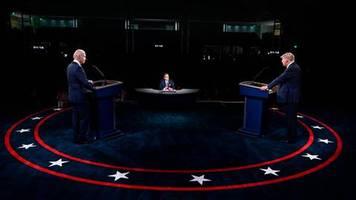 Erstes Fernsehduell: Würden Sie mal die Klappe halten, Mann? Chaotische TV-Debatte zwischen Trump und Biden