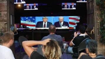 US-Wahl 2020: Trump gegen Biden im TV-Duell: Das eskalierte schnell
