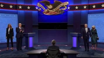 Video: Hitziges TV-Duell zwischen Trump und Biden