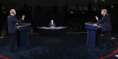 tv-debatte trump gegen biden: trump wütet, biden bleibt ruhig