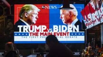 TV-Duell: Kritik an Trump wegen Aussage zu Rechtsextremen