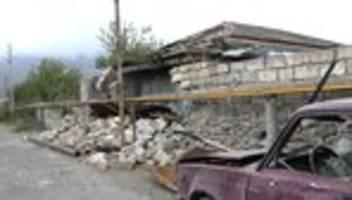 Krieg um Bergkarabach: Trump, Putin und Macron fordern Verhandlungen und Waffenruhe