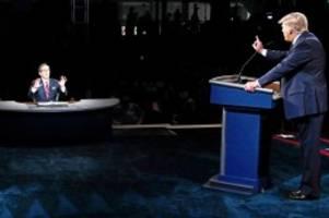 """US-Wahlkampf: Trump vs. Biden: Moderator Wallace """"traurig"""" über TV-Duell"""