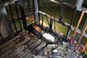 """veranda in flammen - wachsamer hund """"jasper"""" wird in feuerinferno zum helden für seine familie"""