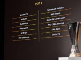 Europa League: Leverkusen nach Nizza, Hoffenheim nach Belgrad