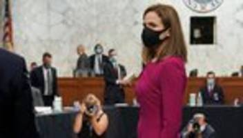 amy coney barrett: us-senat beginnt anhörung für supreme-court-posten