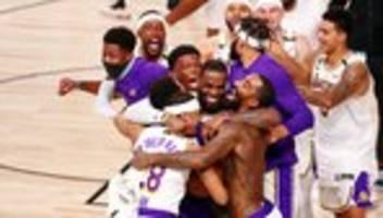basketball: los angeles lakers gewinnen nba