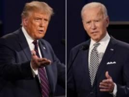 Blog zur US-Wahl: Verschärfte Regeln für Trump und Biden beim letzten TV-Duell