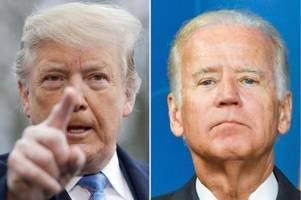 US-Wahl 2020: Umfrage-Ergebnisse zu Donald Trump und Joe Biden (Mitte Oktober 2020)