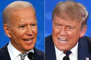 us-wahl 2020: trump/biden: verfolgen sie das letzte tv-duell im liveticker