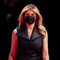 US-Wahl 2020: Nach Corona-Erkrankung: Melania Trump erscheint mit Maske beim TV-Duell