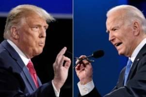 US-Wahl 2020: Diesmal zivilisierter: Trump und Biden im letzten TV-Duell