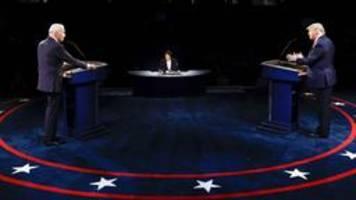 Analyse: Trump fast präsidial, Biden läuft ins Leere