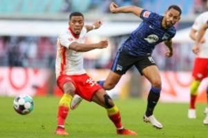 Bundesliga: Leipzig verteidigt Spitze: Hertha verliert mit 1:2