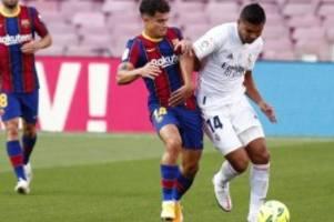 Primera Division: Real Madrid gewinnt Clásico gegen Barcelona 3:1