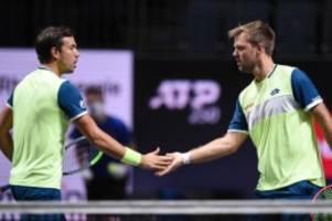 atp-turnier: tennis-doppel mies und krawietz steht im finale von köln
