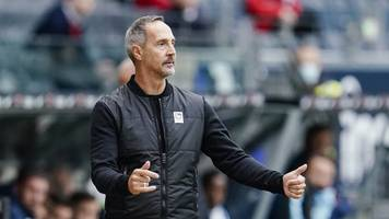 Eintracht Frankfurt: Trainer Adi Hütter zurückhaltend bei Fragen zu Hübner