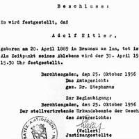 bilder der weltgeschichte: 25. oktober 1956: adolf hitler ist tot – nun auch offiziell