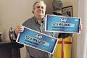 zwei mal 2,5 millionen dollar - lotto-spieler kauft aus versehen zwei identische lose - und holt den jackpot