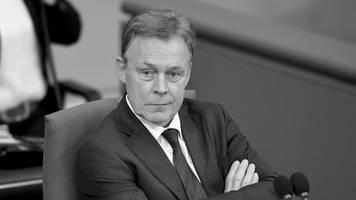 zusammenbruch bei dreharbeiten: bundestagsvizepräsident thomas oppermann ist tot