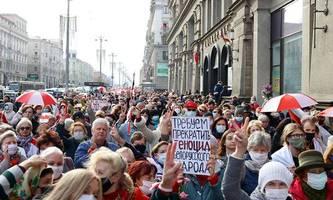 streik und neue proteste in belarus