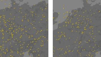 Coronavirus: Diese Animation zeigt zweite die Welle der Luftverkehrskrise