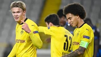 champions league: borussia dortmund gewinnt in brügge und holt die spitze