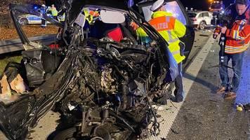 autobahn 99 bei münchen: vier männer sterben bei unfall nach geisterfahrt
