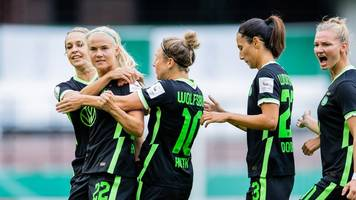 frauen-bundesliga: wolfsburgs fußballerinnen besiegen daheim frankfurt